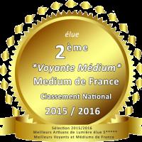 Brigitte Gregorj 2ème prix voyance médium 2015-2016