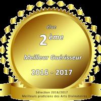 Brigitte Gregorj 2ème prix Meilleur Guérisseur 2016 / 2017